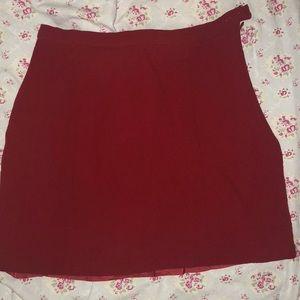 Emporio Armani Red Mini Skirt